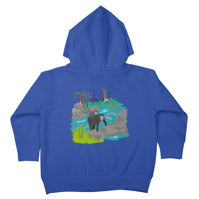 Gorillas Kids Toddler Zip-Up Hoody by JMK's Artist Shop