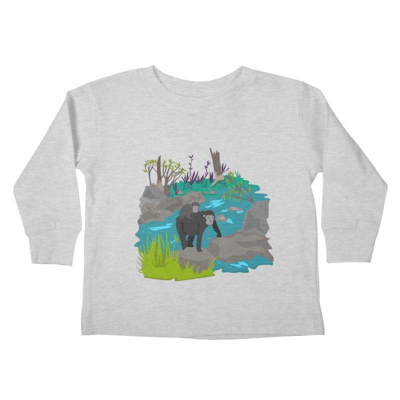 Gorillas Kids Toddler Longsleeve T-Shirt by JMK's Artist Shop