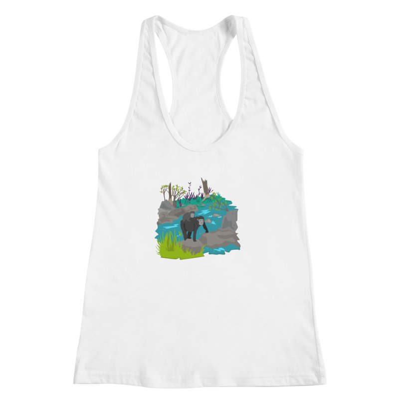 Gorillas Women's Racerback Tank by JMK's Artist Shop