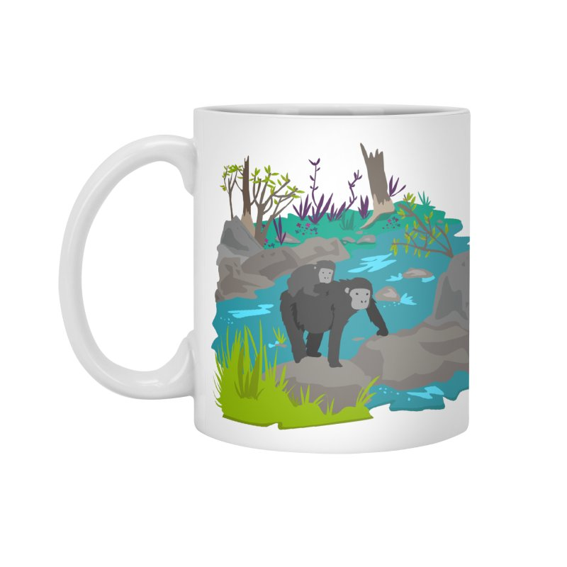 Gorillas Accessories Mug by JMK's Artist Shop