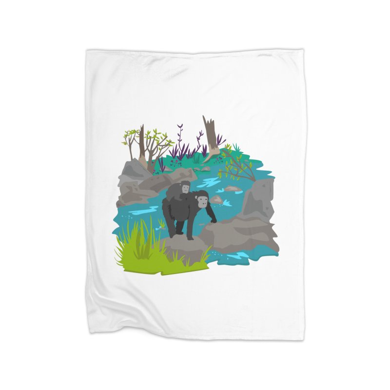 Gorillas Home Blanket by JMK's Artist Shop