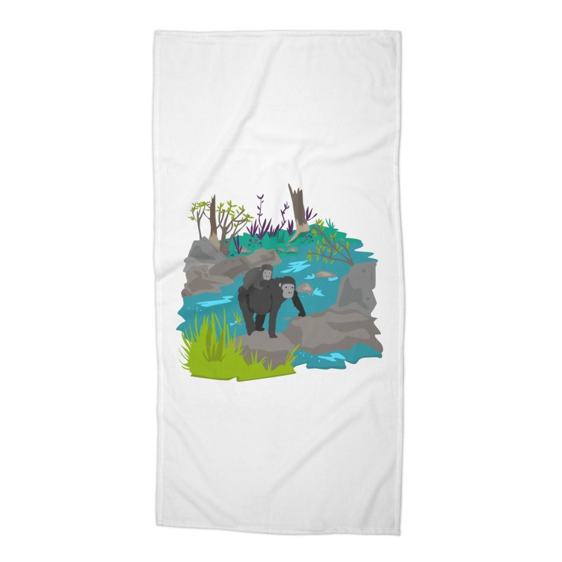 Gorillas Accessories Beach Towel by JMK's Artist Shop