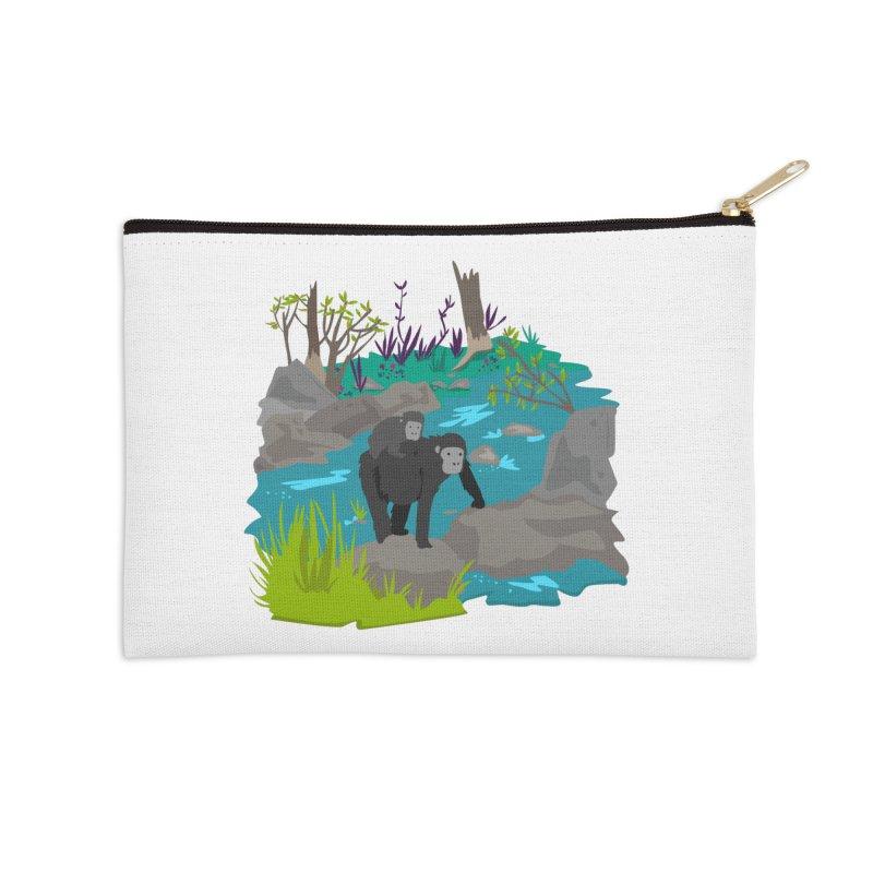 Gorillas Accessories Zip Pouch by JMK's Artist Shop