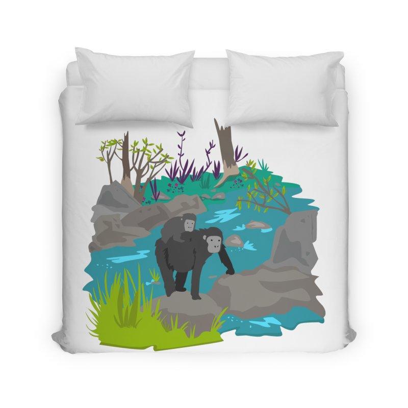 Gorillas Home Duvet by JMK's Artist Shop
