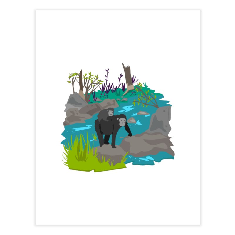 Gorillas Home Fine Art Print by JMK's Artist Shop