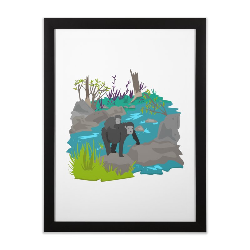 Gorillas Home Framed Fine Art Print by JMK's Artist Shop