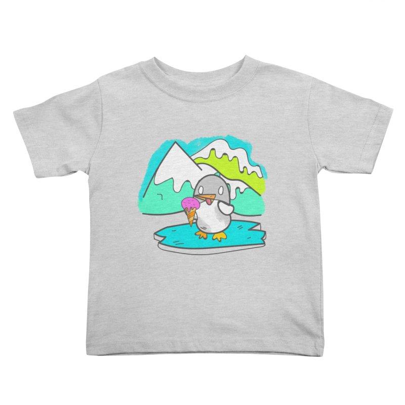 Ice cream Penguin  Kids Toddler T-Shirt by JMK's Artist Shop