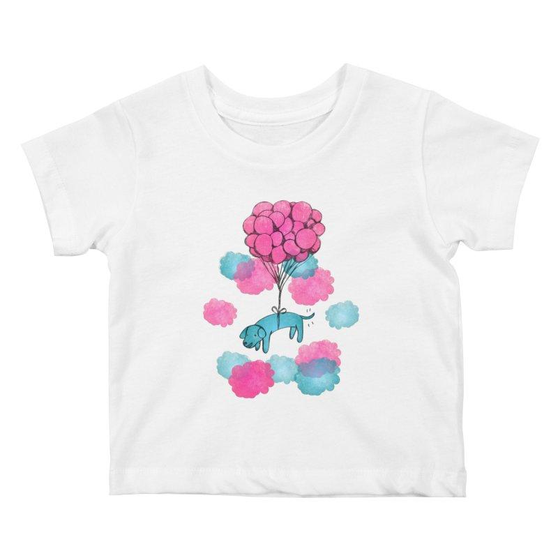 Flying away Kids Baby T-Shirt by JMK's Artist Shop