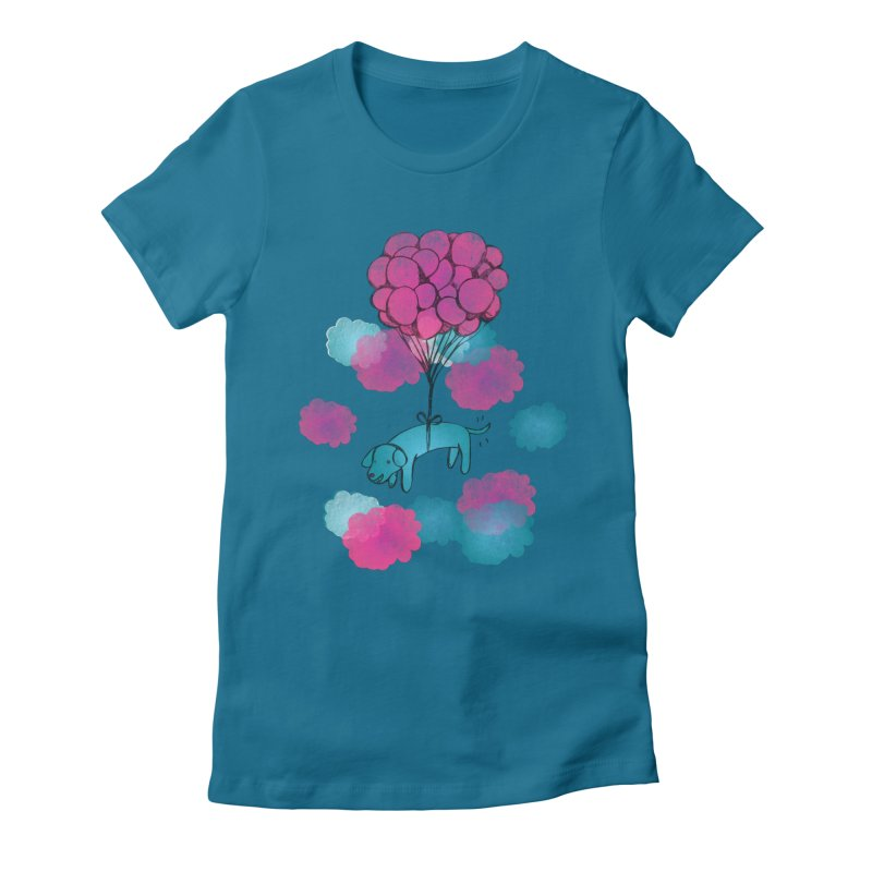 Flying away Women's Fitted T-Shirt by JMK's Artist Shop