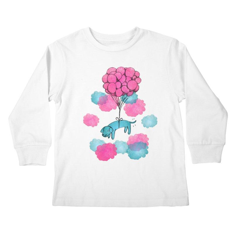 Flying away Kids Longsleeve T-Shirt by JMK's Artist Shop