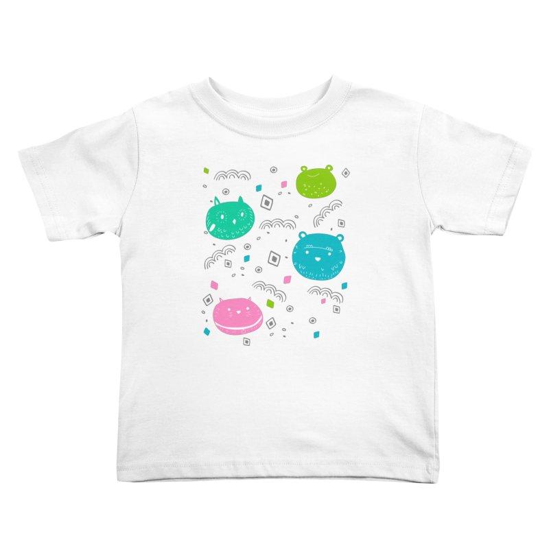 Cute animals pattern Kids Toddler T-Shirt by JMK's Artist Shop