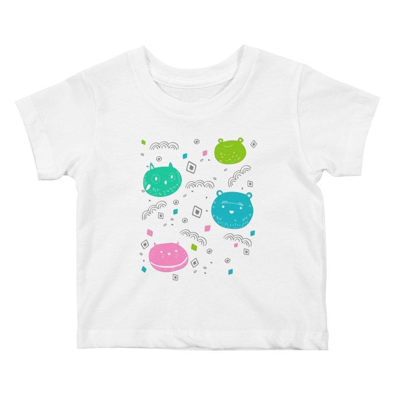 Cute animals pattern Kids Baby T-Shirt by JMK's Artist Shop