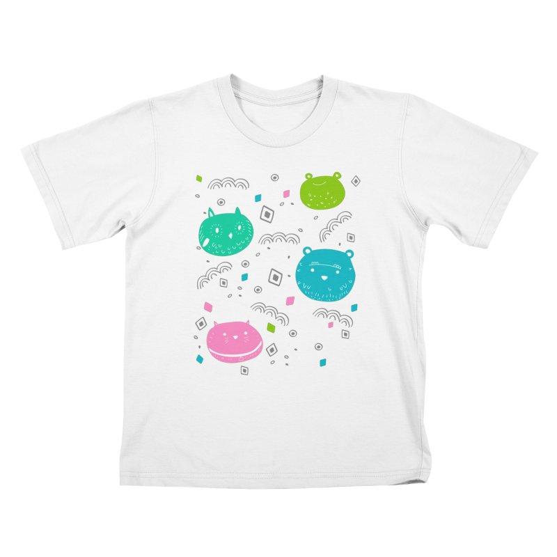 Cute animals pattern Kids T-shirt by JMK's Artist Shop