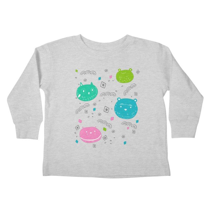 Cute animals pattern Kids Toddler Longsleeve T-Shirt by JMK's Artist Shop