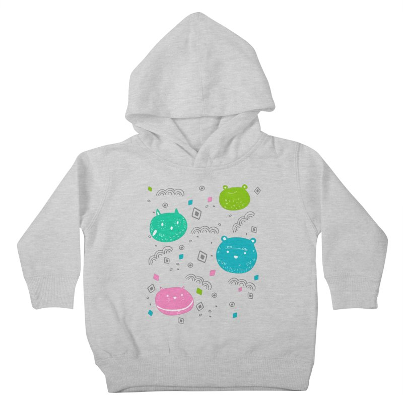 Cute animals pattern Kids Toddler Pullover Hoody by JMK's Artist Shop
