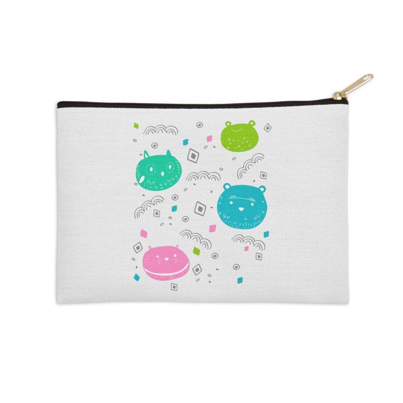 Cute animals pattern Accessories Zip Pouch by JMK's Artist Shop