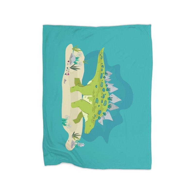 Stegosaurus Dino Home Blanket by JMK's Artist Shop