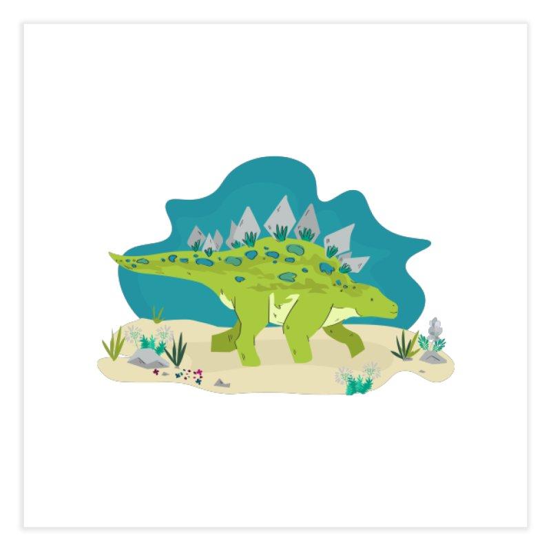 Stegosaurus Dino Home Fine Art Print by JMK's Artist Shop