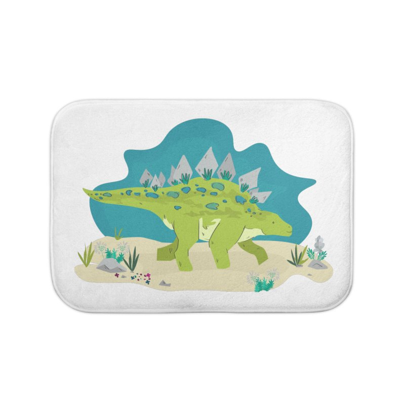 Stegosaurus Dino Home Bath Mat by JMK's Artist Shop