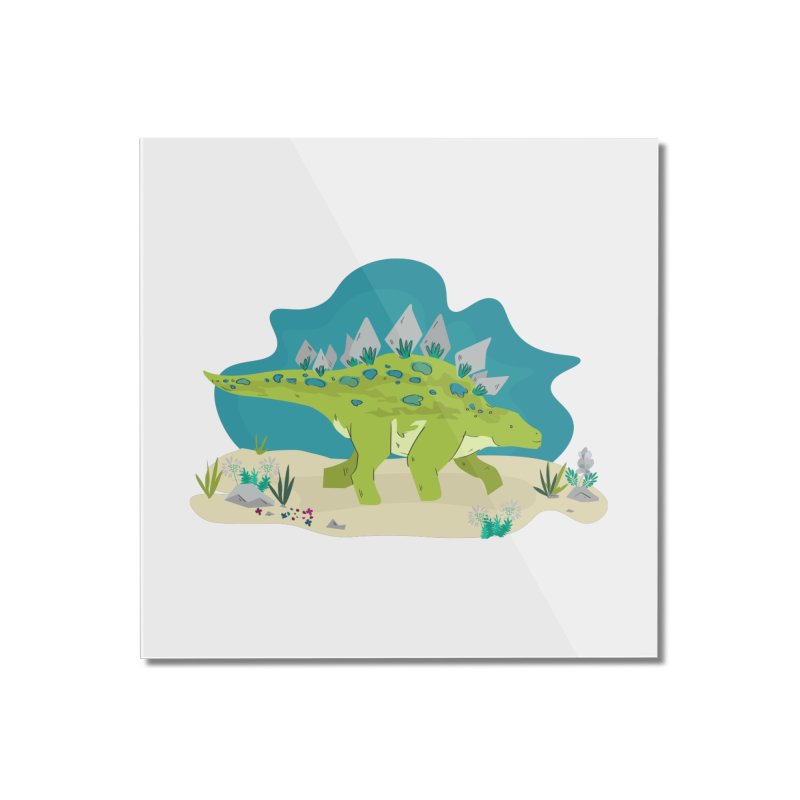 Stegosaurus Dino Home Mounted Acrylic Print by JMK's Artist Shop