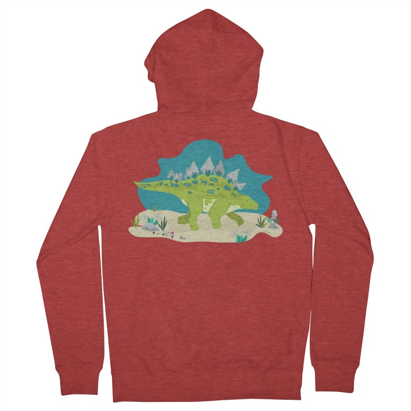 Stegosaurus Dino Women's Zip-Up Hoody by JMK's Artist Shop