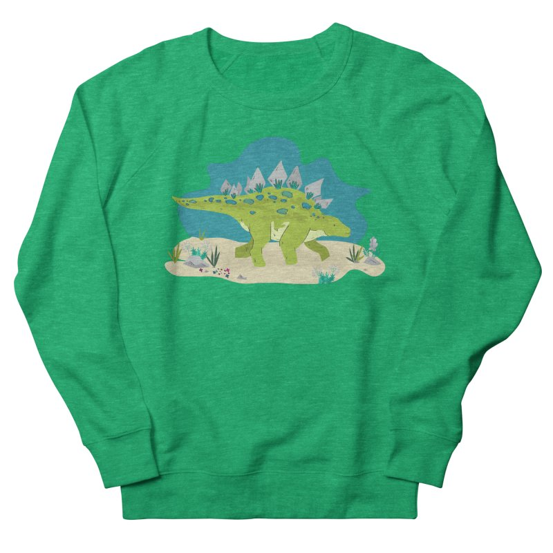 Stegosaurus Dino Women's Sweatshirt by JMK's Artist Shop