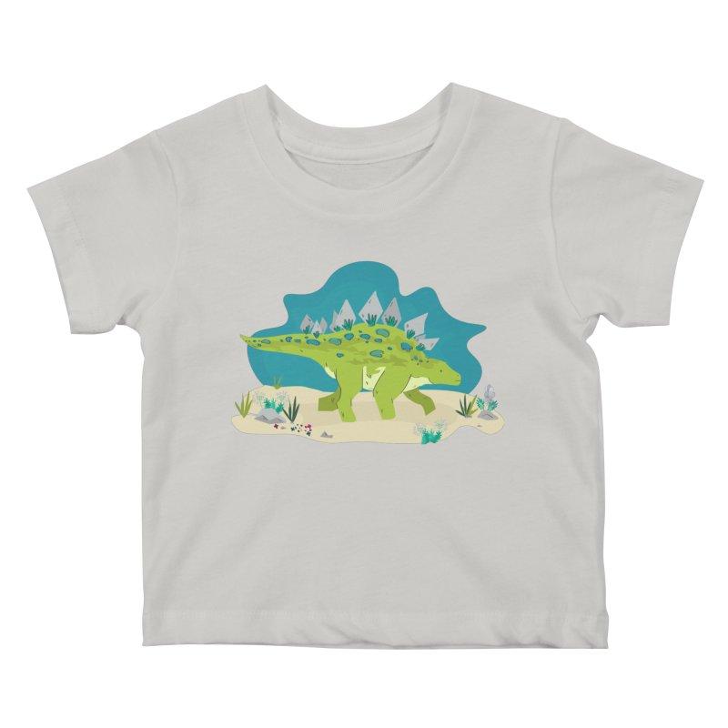 Stegosaurus Dino Kids Baby T-Shirt by JMK's Artist Shop