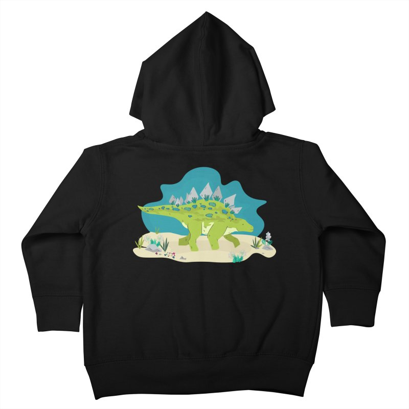 Stegosaurus Dino Kids Toddler Zip-Up Hoody by JMK's Artist Shop