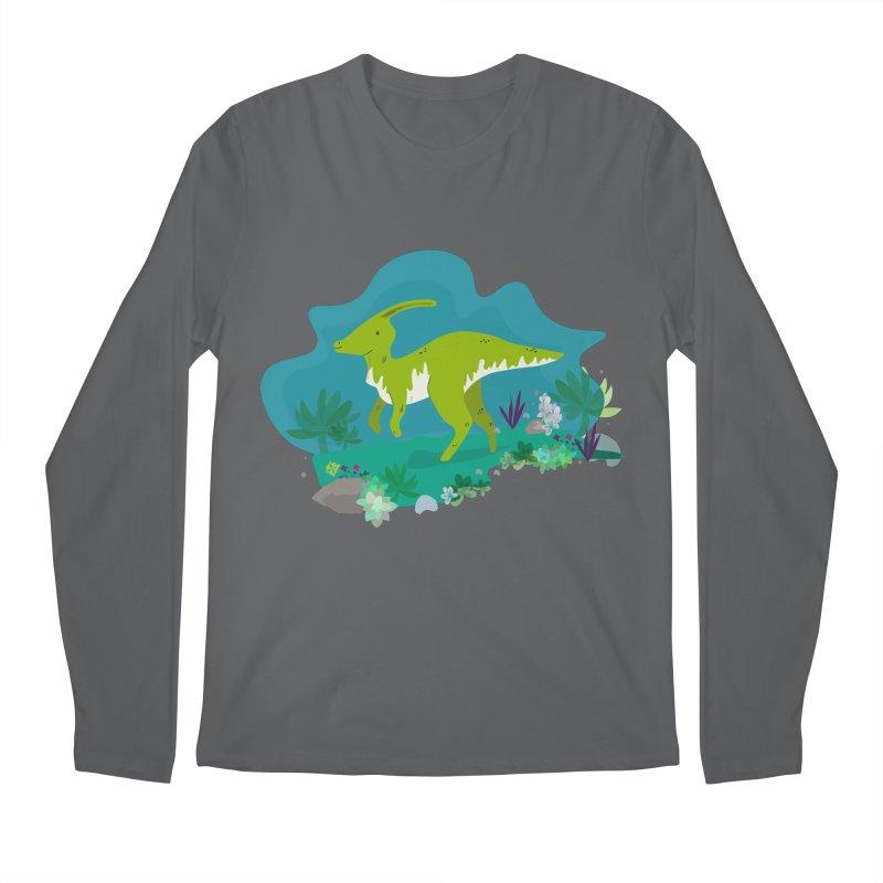 Dino run Men's Longsleeve T-Shirt by JMK's Artist Shop