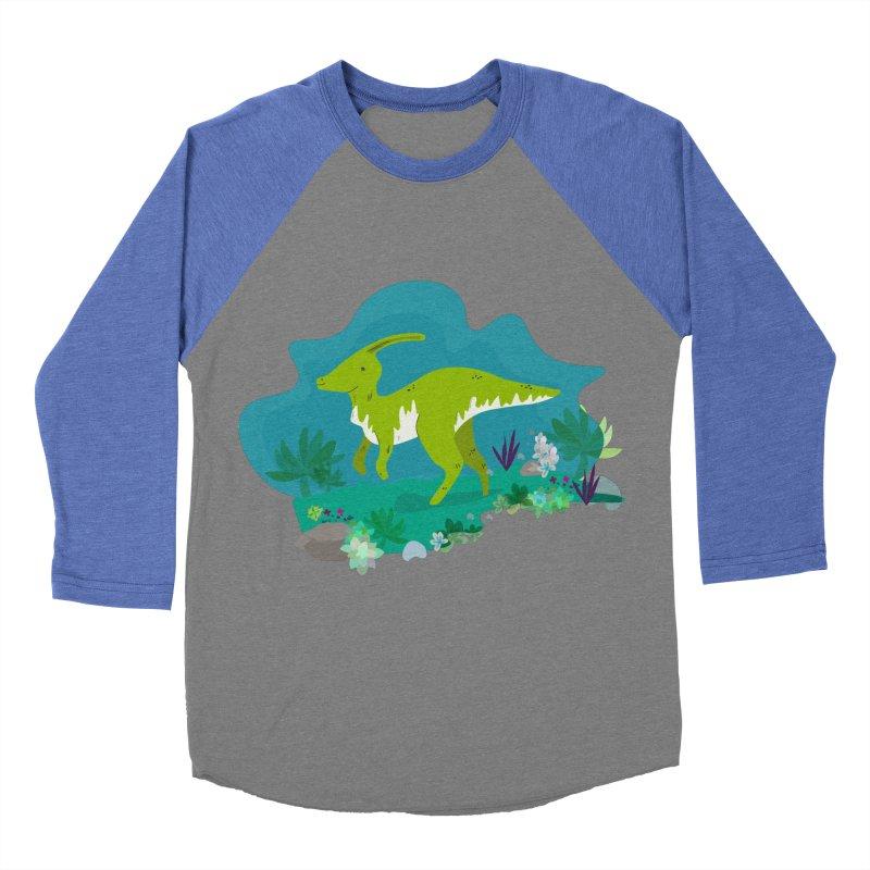 Dino run Women's Baseball Triblend T-Shirt by JMK's Artist Shop
