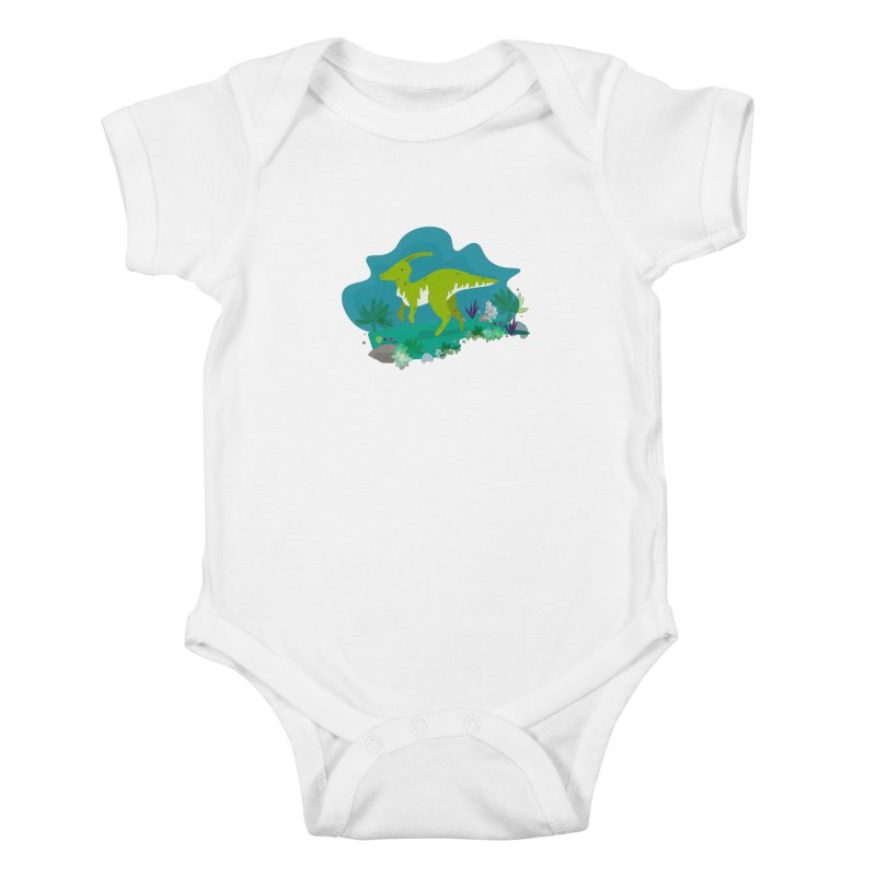 Dino run Kids Baby Bodysuit by JMK's Artist Shop