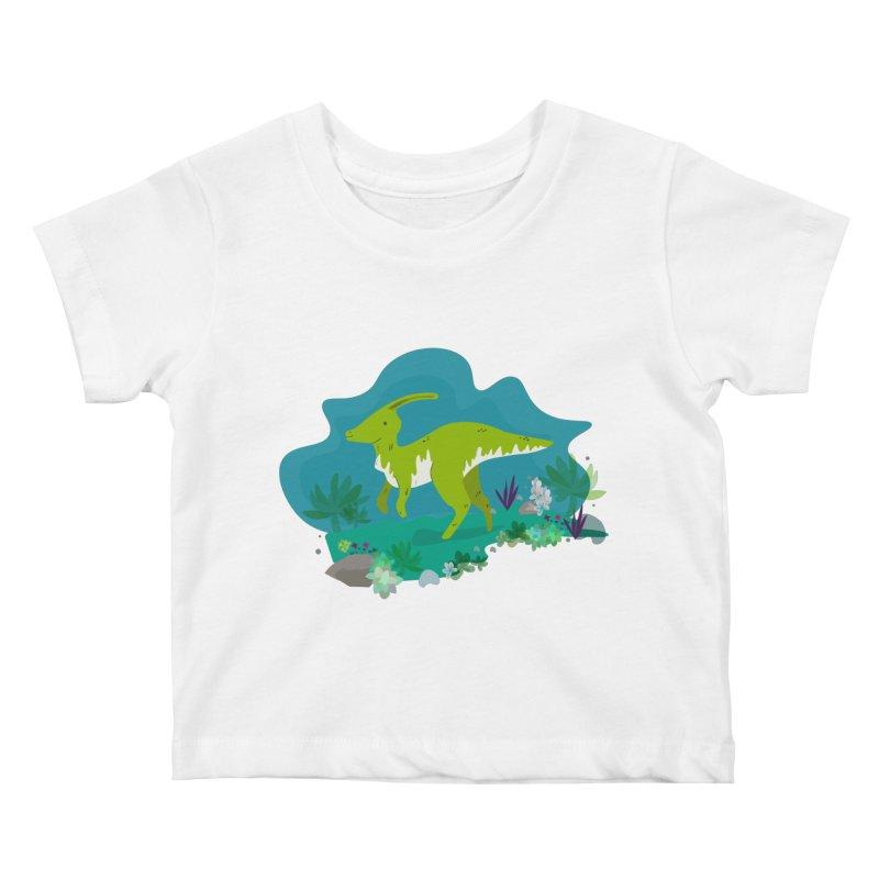 Dino run Kids Baby T-Shirt by JMK's Artist Shop