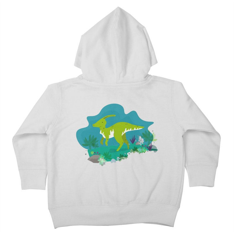 Dino run Kids Toddler Zip-Up Hoody by JMK's Artist Shop
