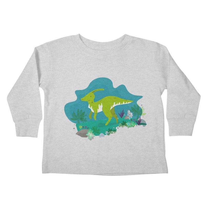 Dino run Kids Toddler Longsleeve T-Shirt by JMK's Artist Shop