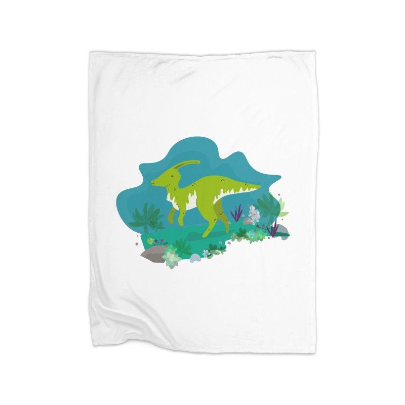 Dino run Home Blanket by JMK's Artist Shop