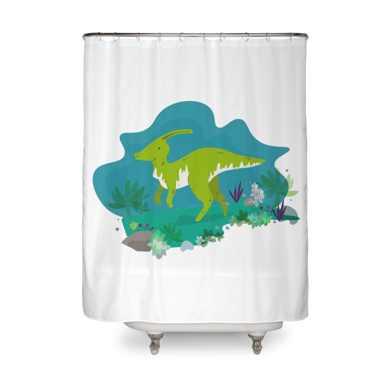 Dino run Home Shower Curtain by JMK's Artist Shop