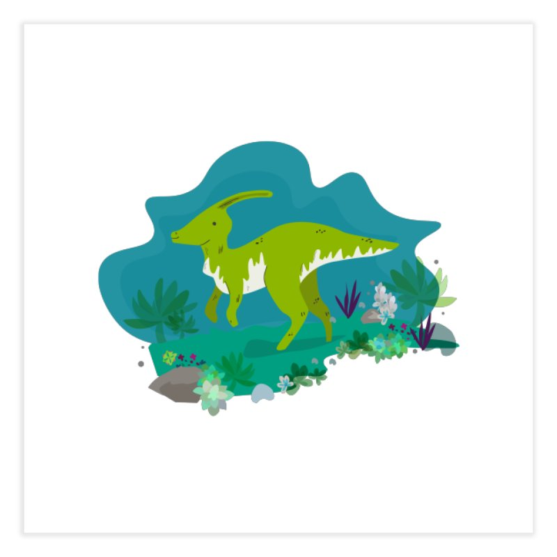 Dino run Home Fine Art Print by JMK's Artist Shop