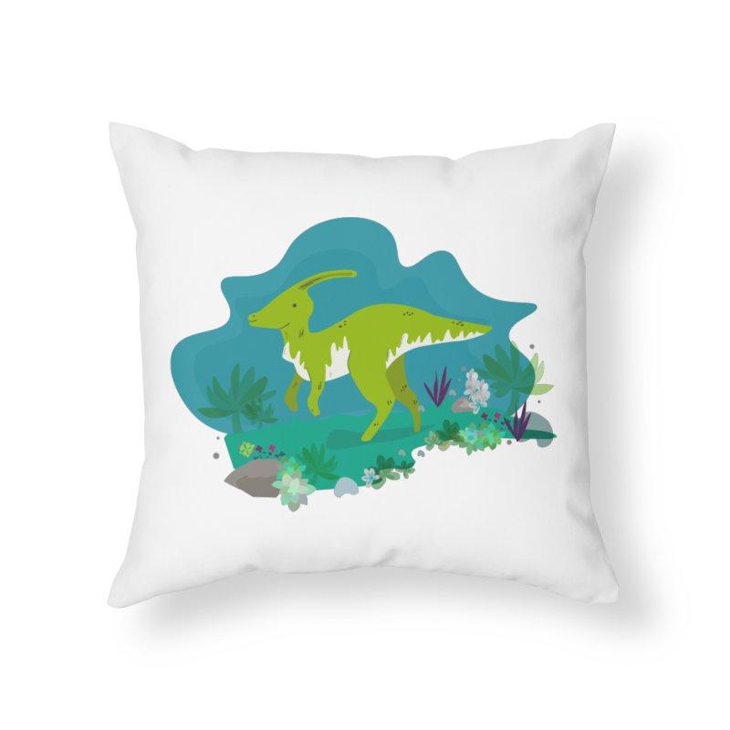Dino run Home Throw Pillow by JMK's Artist Shop