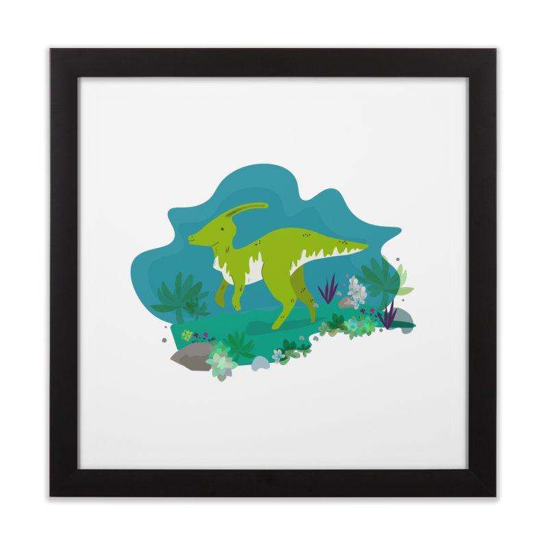 Dino run Home Framed Fine Art Print by JMK's Artist Shop