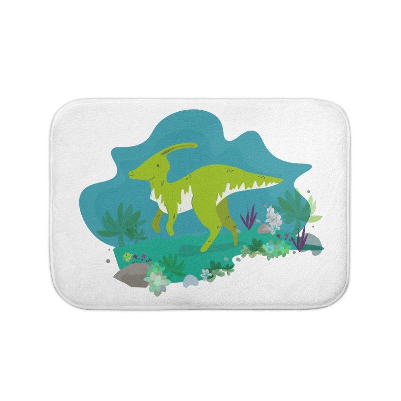 Dino run Home Bath Mat by JMK's Artist Shop