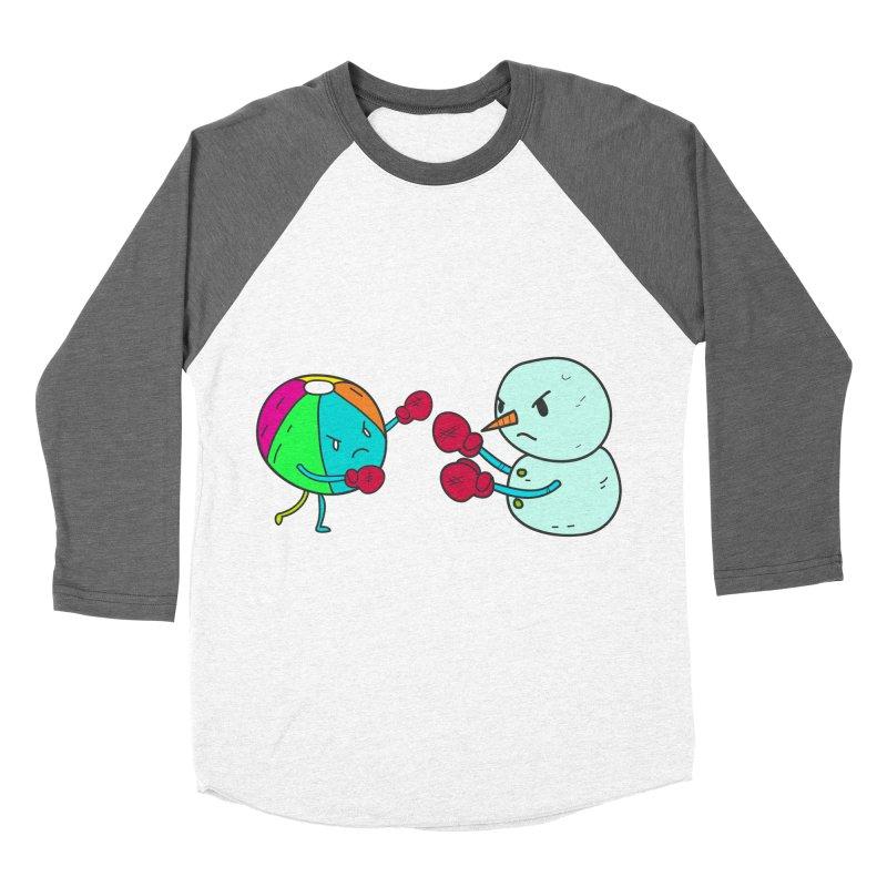 Summer v winter Women's Baseball Triblend T-Shirt by JMK's Artist Shop