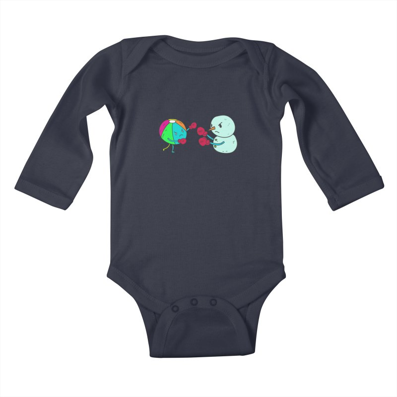 Summer v winter Kids Baby Longsleeve Bodysuit by JMK's Artist Shop