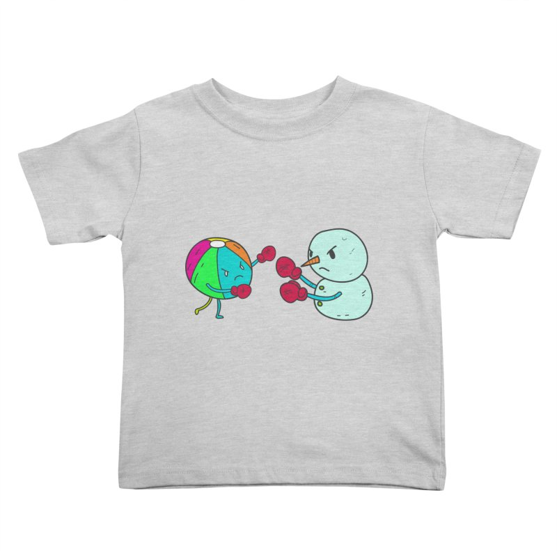 Summer v winter Kids Toddler T-Shirt by JMK's Artist Shop