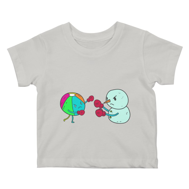 Summer v winter Kids Baby T-Shirt by JMK's Artist Shop