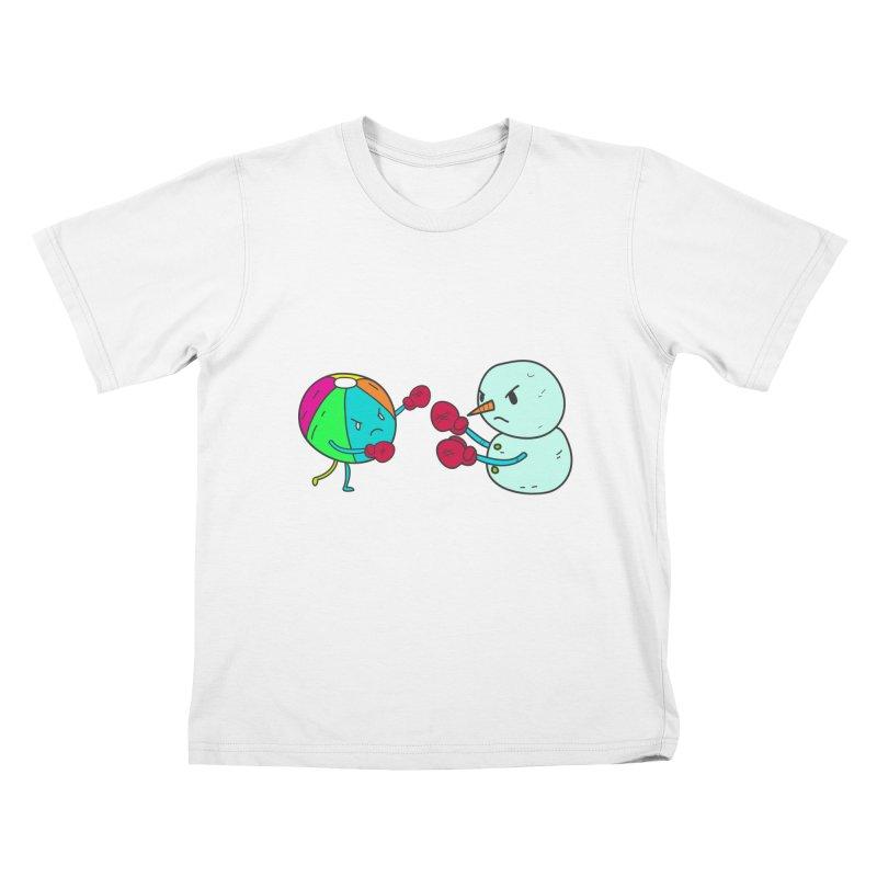 Summer v winter Kids T-shirt by JMK's Artist Shop