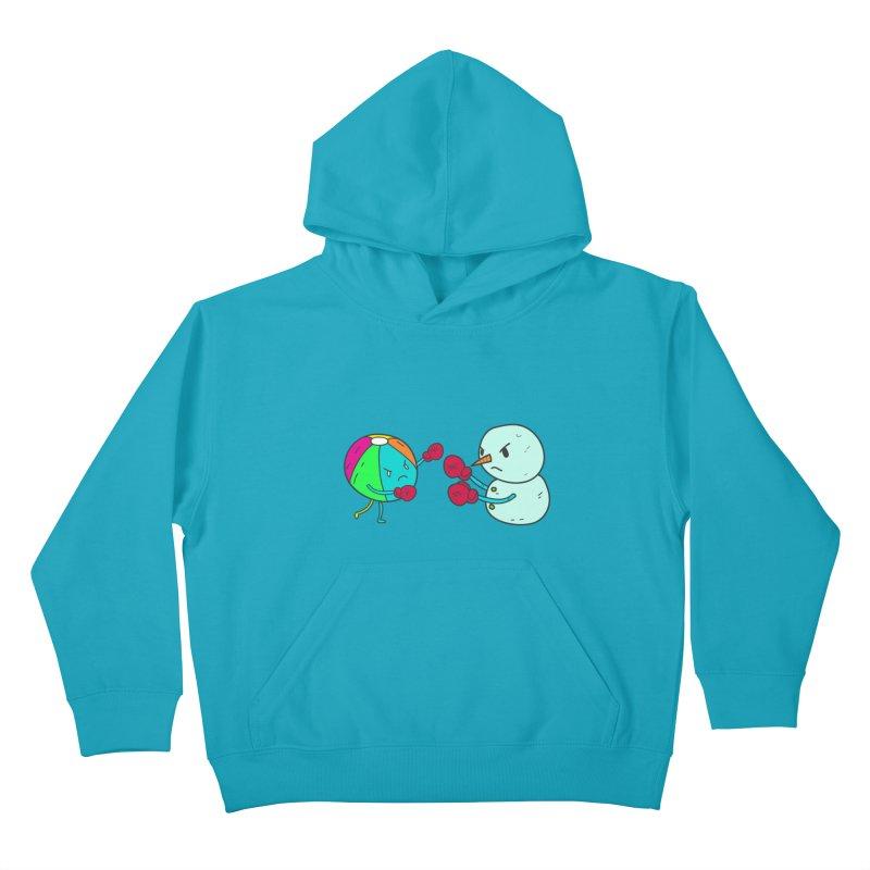 Summer v winter Kids Pullover Hoody by JMK's Artist Shop