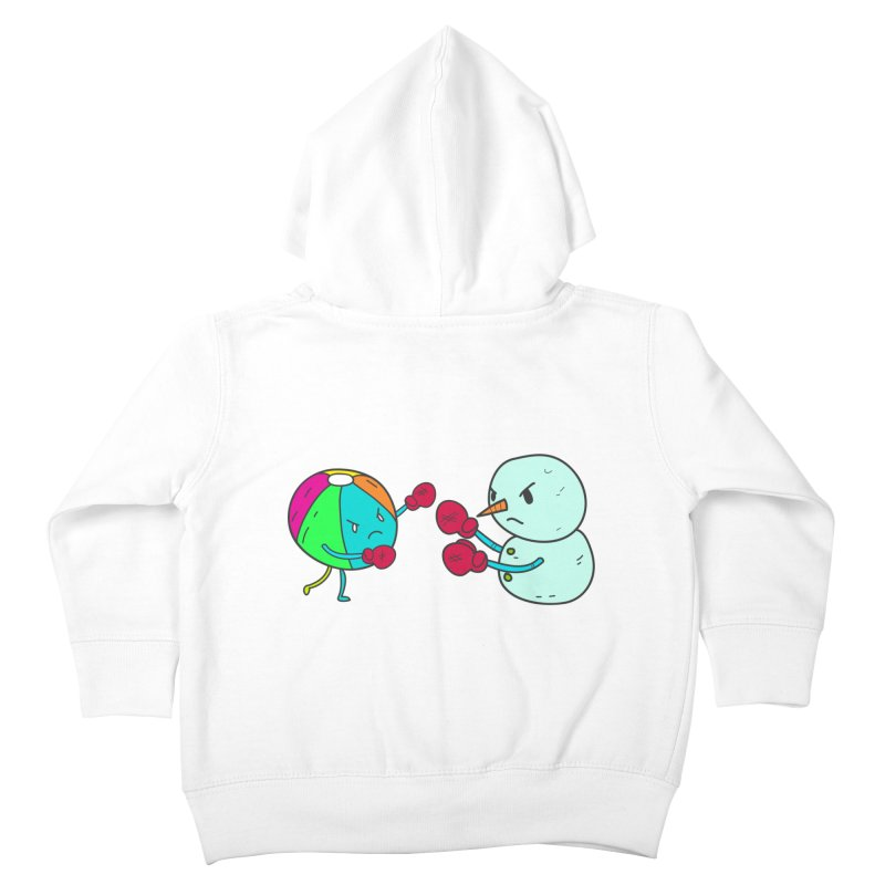 Summer v winter Kids Toddler Zip-Up Hoody by JMK's Artist Shop