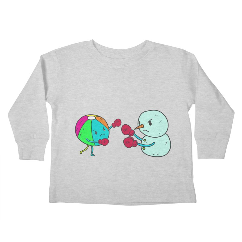 Summer v winter Kids Toddler Longsleeve T-Shirt by JMK's Artist Shop