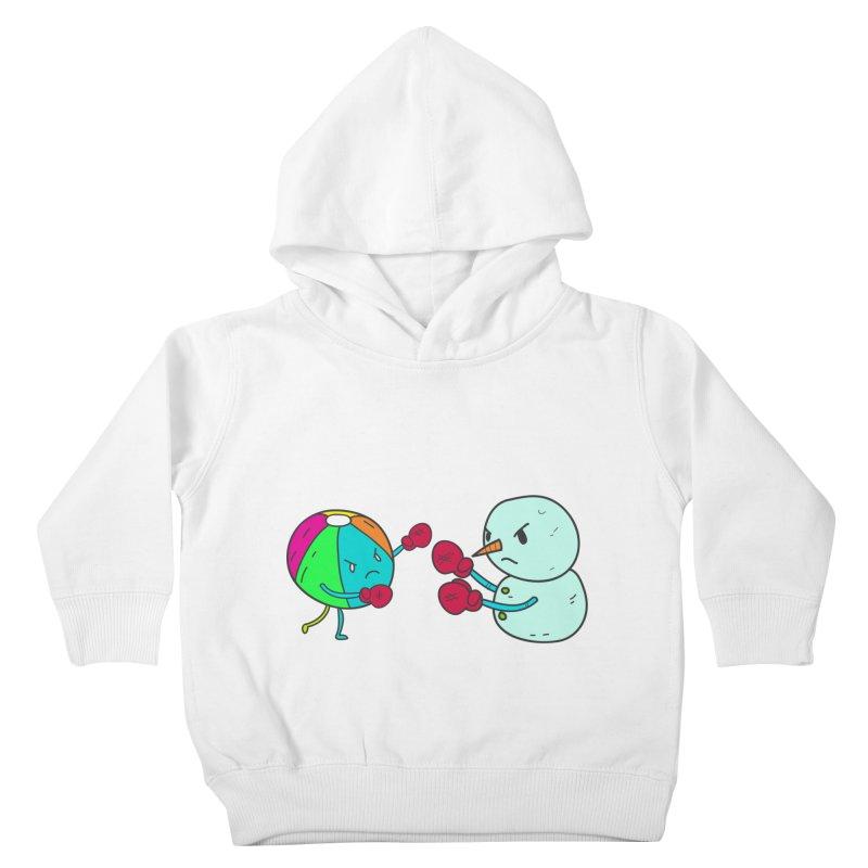 Summer v winter Kids Toddler Pullover Hoody by JMK's Artist Shop