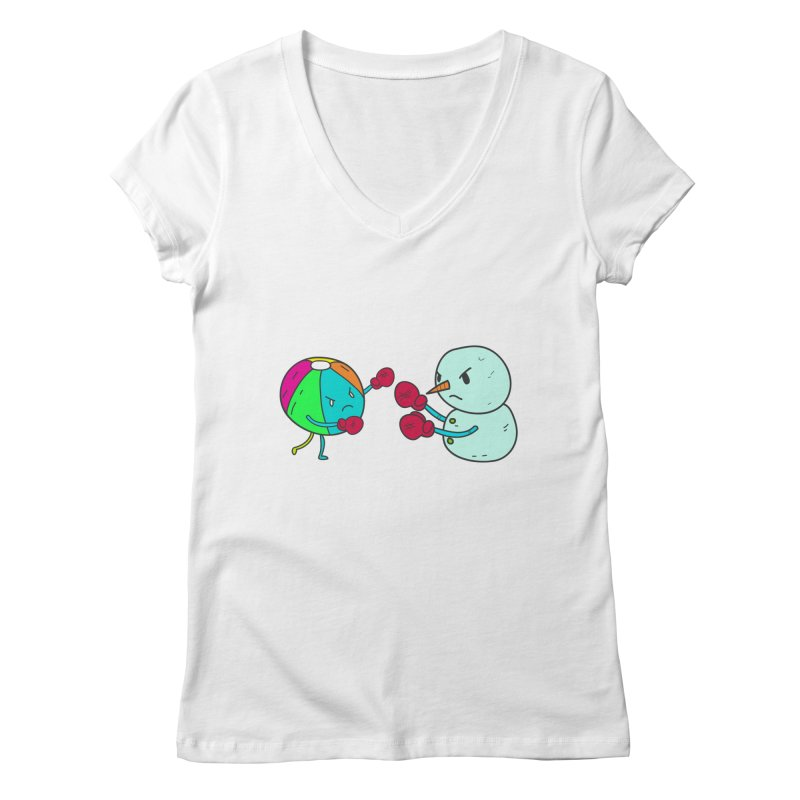 Summer v winter Women's V-Neck by JMK's Artist Shop
